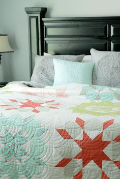 swoon pattern from thimble blossoms. i think i am in love with this color combination.