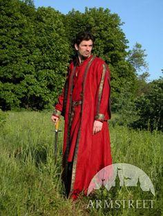 Medieval Tunic flax Overcoat Garb Coat Costume