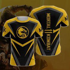2019 Summer Fashion Casual Mortal Kombat 11 T-Shirts Print Fighting game Mortal Kombat 11 T-Shirt Men/Women Tops Mortal Kombat, Grunt Style Shirts, Shirt Style, Fox Sport, Mens Outdoor Fashion, Scouts, Yoga Fitness, Shirt Template, Uniform Design
