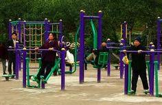 fitness voor bejaarden. Dit was een evenement in het bejaardenhuis
