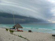 Punta Allen, Mexico: tropical storm approaching