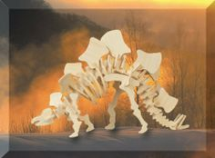 """Puzzled Stegosaurus Dinosaur 3D Woodcraft Construction Kit by Puzzled. $4.95. Stegosaurus Woodcraft Construction Kit. 44 piece Wooden 3D Puzzle. NO cutting tools or glue required since all designs are pre-cut. Assembled Size: 11 1/2"""" L x 2 1/2"""" W x 7"""" H. All pieces interlock with each other forming a 3D model. This is a Woodcraft Construction Kit of a Stegosaurus Dinosaur. It is made of 44 - 3mm wooden plywood pieces and when assembled measures 11 1/2"""" L x 2 1/2"""" W x 7..."""