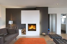 Stylish Fireplace Design for Your Modern Living Room | Home Design ...