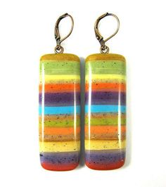 Polymer Clay Earrings  Southwestern Landscapes by DivaDesignsInc, $24.00