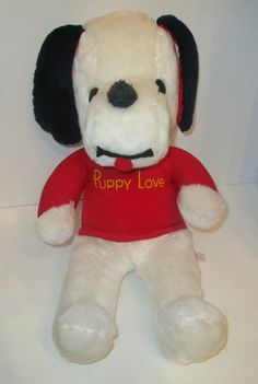 "*Flaw* Vtg 1970s Knickerbocker PUPPY LOVE Plush Stuffed Dog Snoopy Clone 18""  #Knickerbocker"