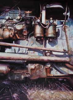 David Poxon | Engine In An Autumn Field