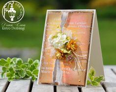 flower card; tutorial ink resist paper