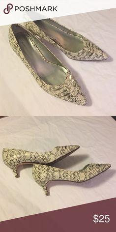 Avenue snake skin looking shoes Avenue snake skin looking shoes, excellent condition. Avenue Shoes Heels