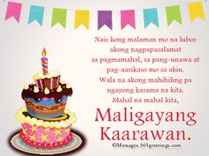 birthday message for friend birthday messages birthday wishes pinoy quotes messages for