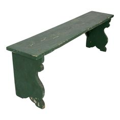 Antique Painted Wood Bench - Image 1 of 8 Cabin Furniture, Outdoor Furniture, Outdoor Decor, Antique Paint, Farmhouse Table, Painting On Wood, Bench, Painted Wood, Antiques