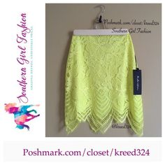 """FOR LOVE & LEMONS Skirt Scalloped Lace Neon Mini Size XS. New with tags. $188.   Authentic lace SKIRT. Scalloped hem and side zip closure. Measurements for Size XS (flat): Length (Lining): 16.8"""" Length (Hem): 20"""" Across Top: 11.2"""" Bottom Opening: 18.8""""  Availability (sold separately):  Skirt : XS. Top: XS.      ❗️ Please - no trades, PP, holds, or Modeling.   ✔️ Reasonable offers considered when submitted using the blue """"offer"""" button.    Bundle 2+ items for a 20% discount!    Stop by my…"""