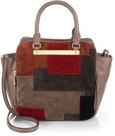 f121e43f45ad Goodbye Columbus Leather Suede Patchwork Shopper - Lyst Saks Fifth Avenue,  Hammock, Designer Bags