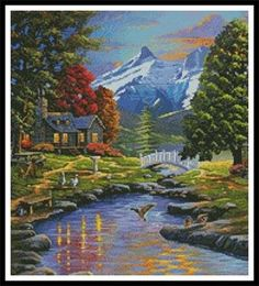 Responsible Four Seasons In The Countryside Spring Summer Autumn Winter Chinese Dmc Counted Cross Stitch Patterns Kits For Embroidery 14ct Complete Range Of Articles Package Home & Garden
