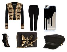 """glamour"" by mgonzalezmoreno on Polyvore featuring moda, Balmain, Melissa McCarthy Seven7, Gucci y River Island"