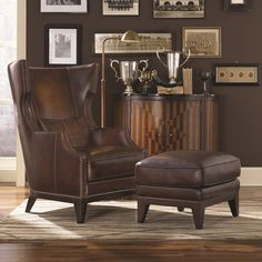 Found it at Wayfair - Martin Hill Wingback Chair and Ottoman