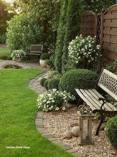 Garden Decoration Ideas With Rocks Small Backyard Landscaping, Modern Landscaping, Backyard Patio, Landscaping Ideas, Backyard Ideas, Porch Ideas, Acreage Landscaping, Small Pergola, Rustic Backyard