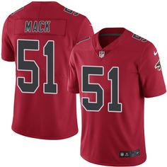 Youth Nike Atlanta Falcons #51 Alex Mack Limited Red Rush NFL Jersey Odell Beckham Jr jersey