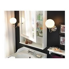 IKEA - HEMNES, Mirror cabinet with 1 door, white, , The adjustable shelf is extra heat- and impact-resistant and has a high load-bearing capacity since it is made of tempered glass.The mirror comes with safety film on the back, which reduces the risk of injury if the glass is broken.