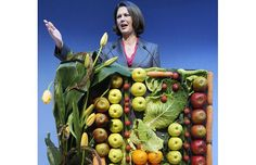 German agriculture minister Ilse Aigner makes a speech at the International Green Week Food and Agriculture Trade Fair in Berlin