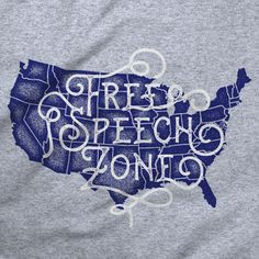 56ca7f93 Free Speech Zone by Liberty Maniacs Cotton Tee, Graphic Tees, Liberty,  Freedom,