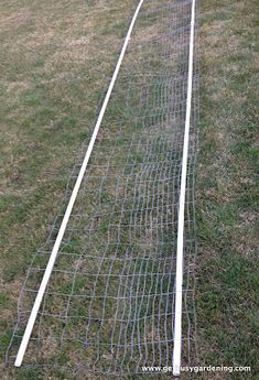 Weaved PVC into fencing to support squash arch