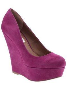 purple wedge heel - perfect