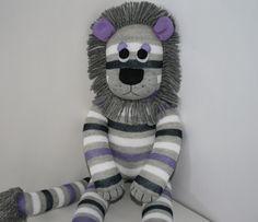 Lewis the Sock Lion by YouMakeMeMe on Etsy. $28.00, via Etsy.