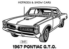 Illustrations - Hot Rods & Show Cars by James Jones, via Behance Cars Coloring Pages, Coloring Book Art, Pontiac Gto, Car Drawing Pencil, Cool Car Drawings, Art Drawings, Gto Car, Chevy, Old School Cars