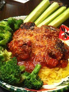 "Kitchen Queen Eats Clean: Spaghetti Squash ""Pasta"" with Turkey Meatballs and Garlic Herb Marinara Sauce!"