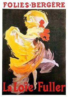 Vintage Posters - Jules Cheret Advertising Poster Folies Bergere La Loie Fuller Jules Cheret French Advertising Posters. - Jules Cheret - French Advertising Posters.