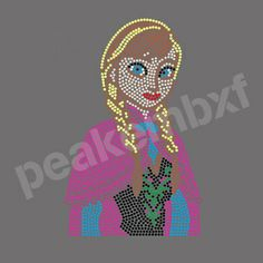 Rhinestud Anna Iron On Transfers Wholesale For Tshirts 30pcs/Lot
