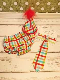 Baby / Boy Toddler Party Hat & Diaper Cover First by callyfindlay, $39.85
