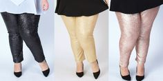 society plus 'fancy pants' sequins leggings in plus size