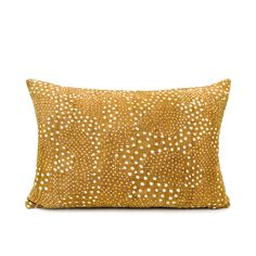 Mudcloth White Dots on Mustard Pillow Cover – Pille Verone Boutique