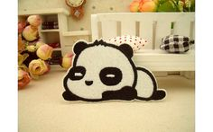 Cute panda patch Animal Cartoon patches Badge by craftapplique