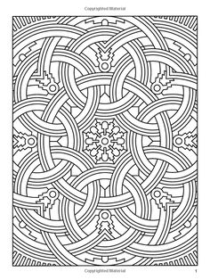 Difficult Geometric Design Coloring Pages | Amazon.com: Deco Tech: Geometric Coloring Book (Dover Design Coloring ...