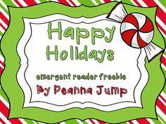 Happy Holidays! Emergent Reader FREEBIE!
