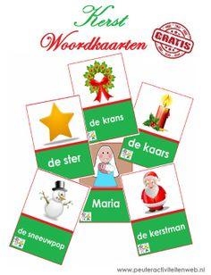 Download gratis Kerst woordkaarten via de website van www.peuteractiviteitenweb.nl  Als u ziet dat de kinderen er veel plezier aan beleven, dan beschikken wij ook over een uitbreidingsset met 21 woordkaarten (10x15) Voor vragen of interesse neemt u contact op met info@peuteractiviteitenweb.nl