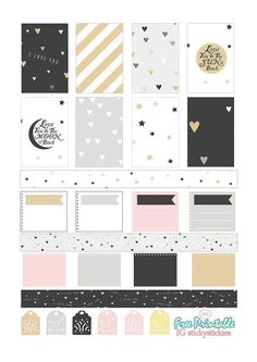 Free Printable To the Moon and Back Planner Stickers from stickystickies