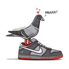 """941fbf1ed0 Qual Seu Size  - Sneaker on Instagram  """"🕊 🗽Pruuuuu! Uma das artes que eu  mais me diverti fazendo e carregada de significado"""