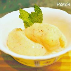 Peach Sorbet: A sweet and tangy peach sorbet to refresh yourself on a summer day! Sorbet is a frozen dessert made from sweetened water with flavoringtypically fruit juice or fruit purée wine and/or liqueur and very rarely Honey. The recipe here makes a cr