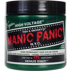 Manic Panic Classic Semi-Permanent Hair Dye 118ml (Venus Envy) (91 VEF) ❤ liked on Polyvore featuring beauty products, haircare and manic panic
