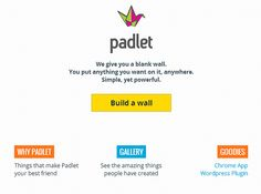Web Tool: Wallwisher is now called Padlet. Go to http://padlet.com/    No pinnable image on the site.