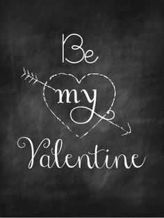 Be My Valentine chalkboard, too cute :) #PANDORAvalentinescontest