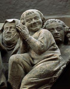 Gruppe der Seligen, Naumburger Meister, Mainz Cathedral, 1240