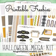 AngieHalesCreates~ Free Printables~ Halloween Mega Kit
