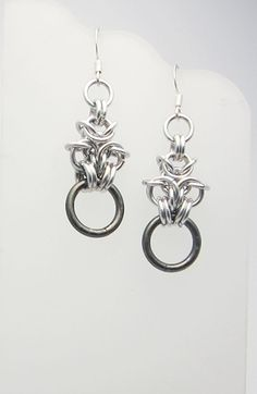 Lightweight Aluminum Chainmaille Earrings by RedBessBonney on Etsy, $14.00