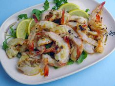 Split prawns are a quick, simple appetizer with definite eye appeal.