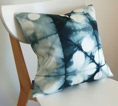 Tie Dye Shibori Pillow Cover 18x18 inches - Peacock. $60.00, via Etsy.