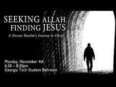 Seeking Allah, Finding Jesus at Georgia Tech - November 4th, as Nabeel Qureshi, a former devout Muslim, describes his journey from Islam to Christianity. A question and answer session will follow his talk.